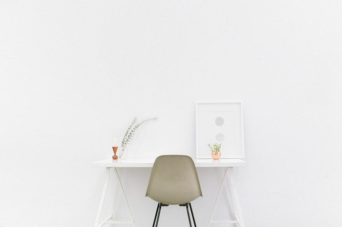 minimalist lifestyle white room