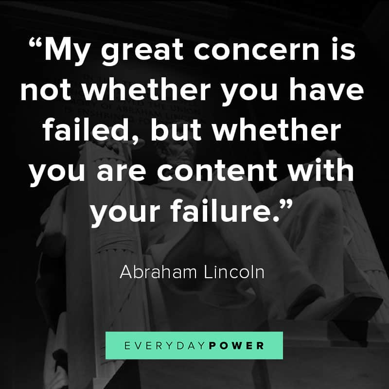 Abraham Lincoln quotes on failure
