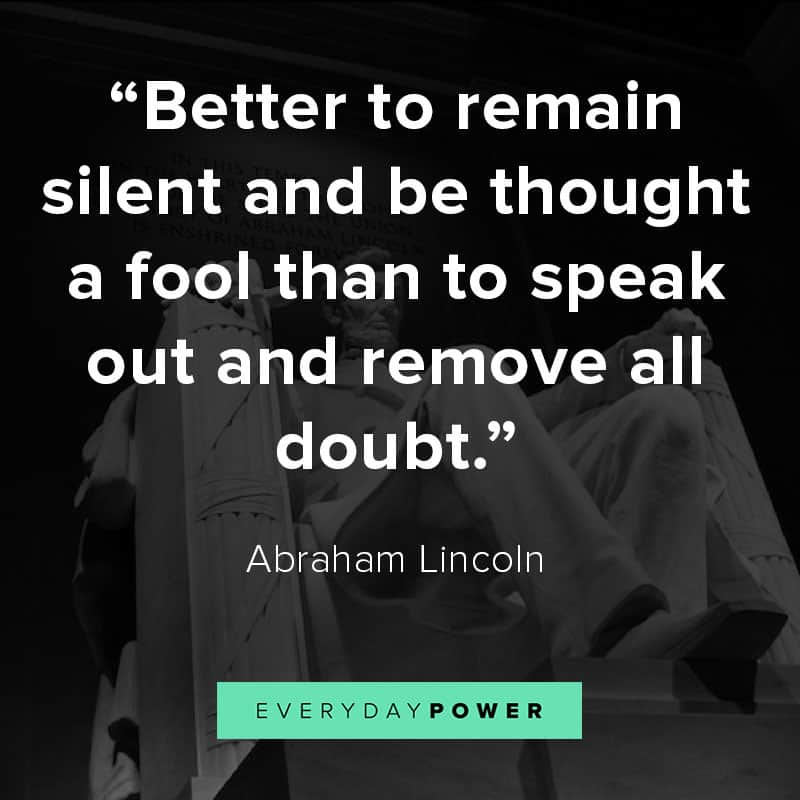 Abraham Lincoln quotes on foolishness