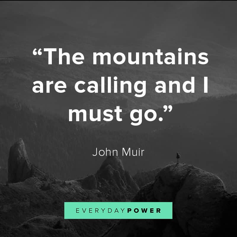 mountain nature quotes on life