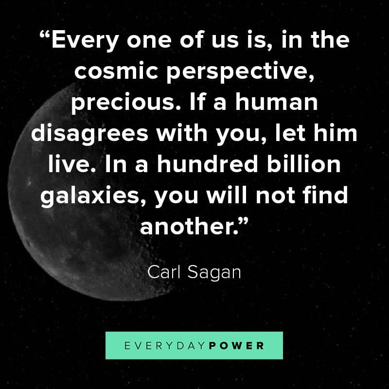 Carl Sagan quotes about our place in the universe