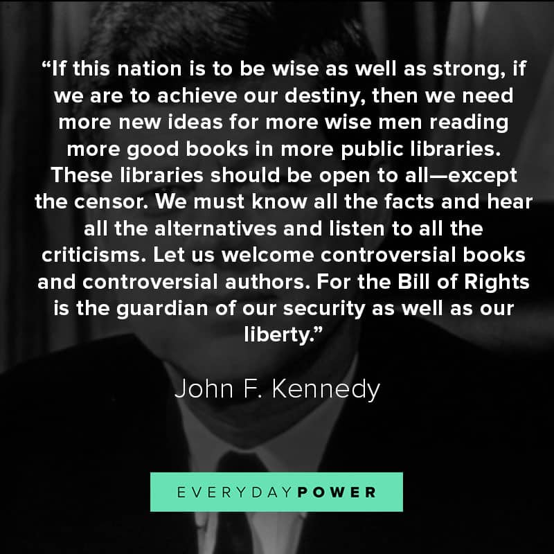 More JFK quotes about leadership and the nation