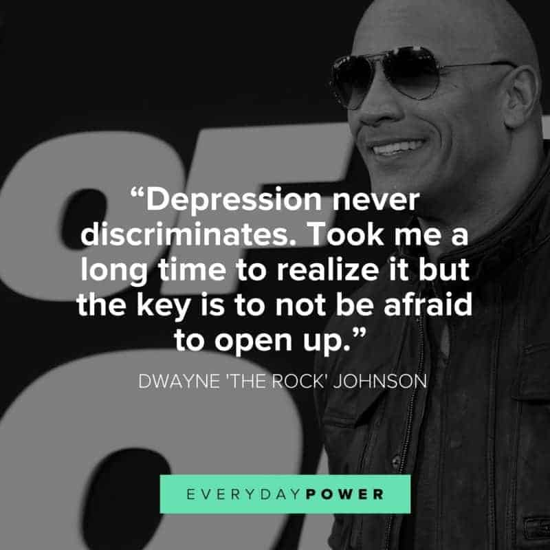 the rock quotes about depression