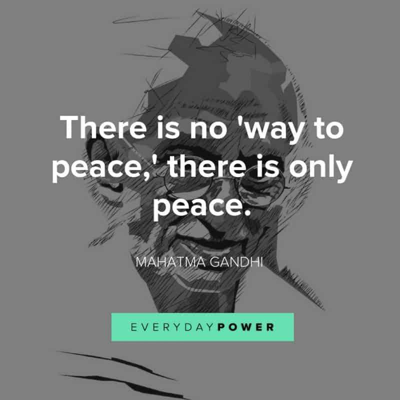 best MAHATMA GANDHI quotes about peace