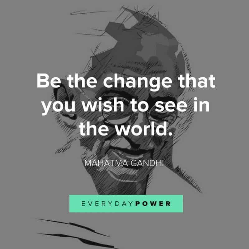 best MAHATMA GANDHI quotes about the world