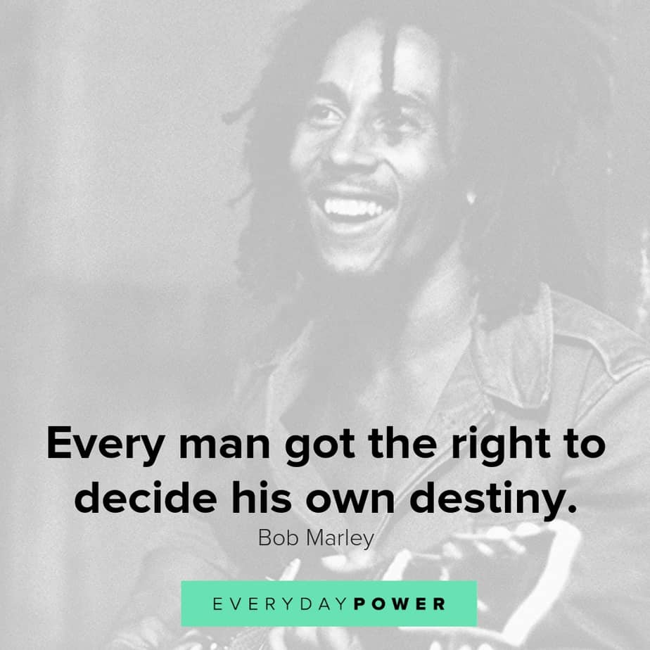 Uplifting Bob Marley quotes