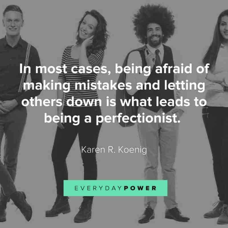 Ways to deal with being a perfectionist