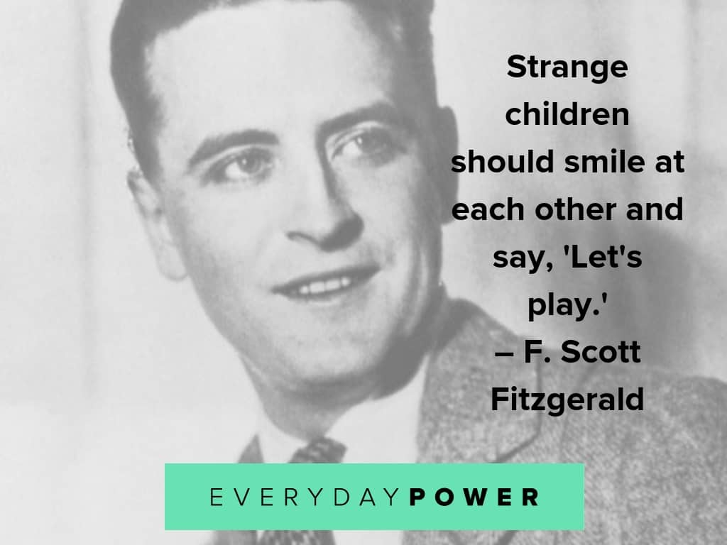 F. Scott Fitzgerald quotes on play