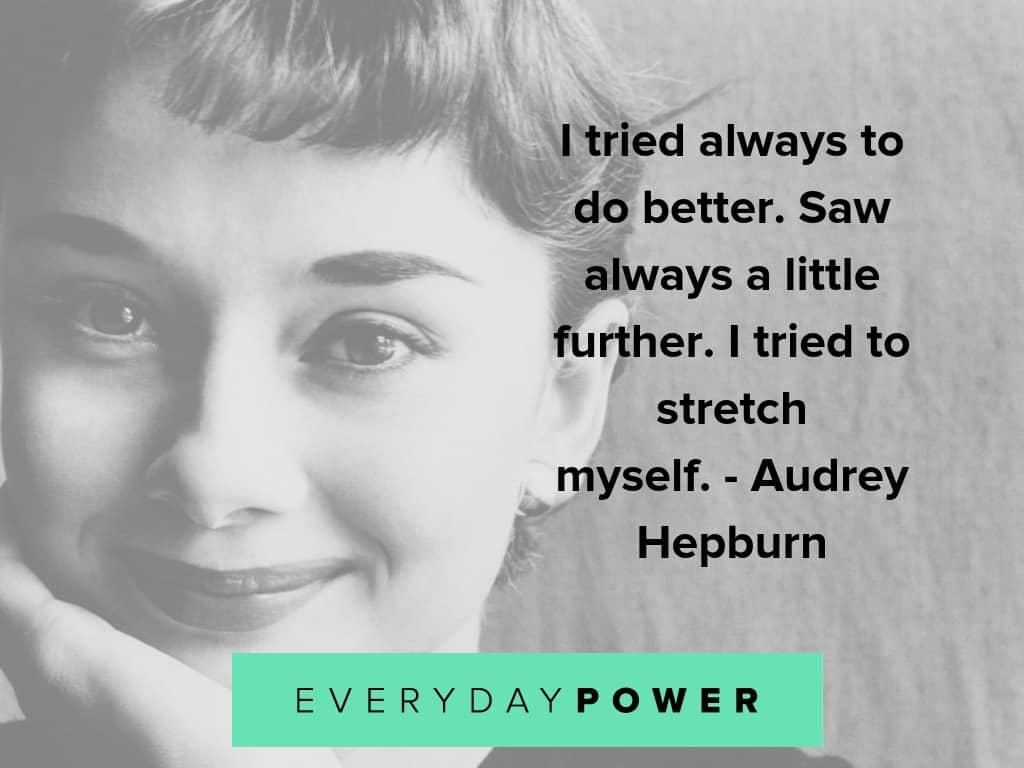 audrey hepburn about success