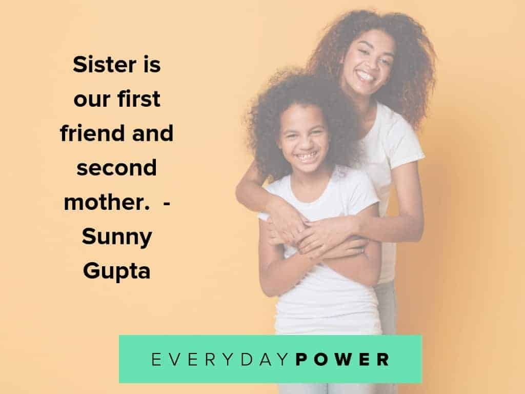quotes about sisters and them being our second mothers