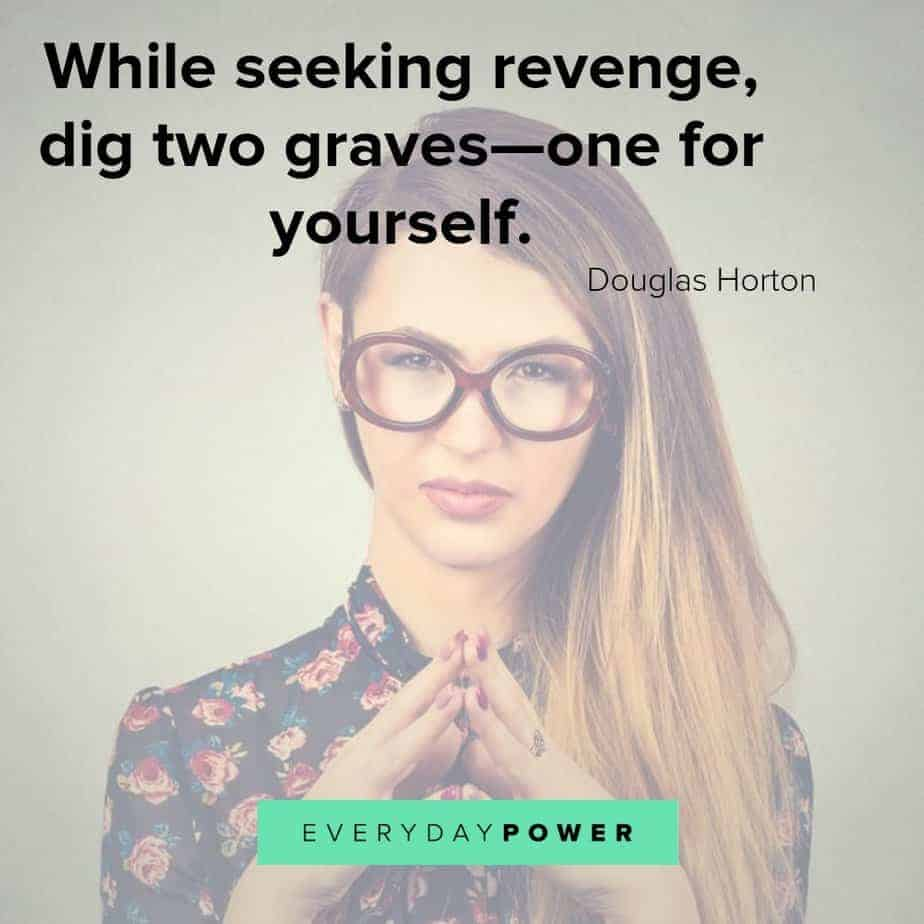 revenge quotes about digging graves