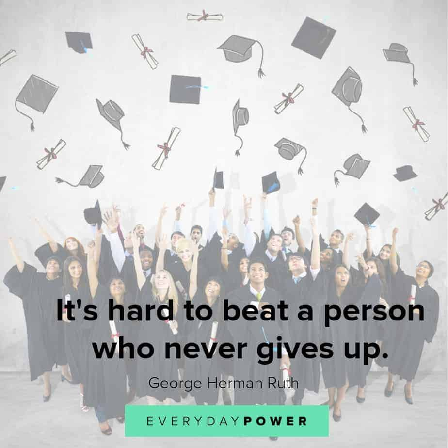 senior year quotes on never giving up