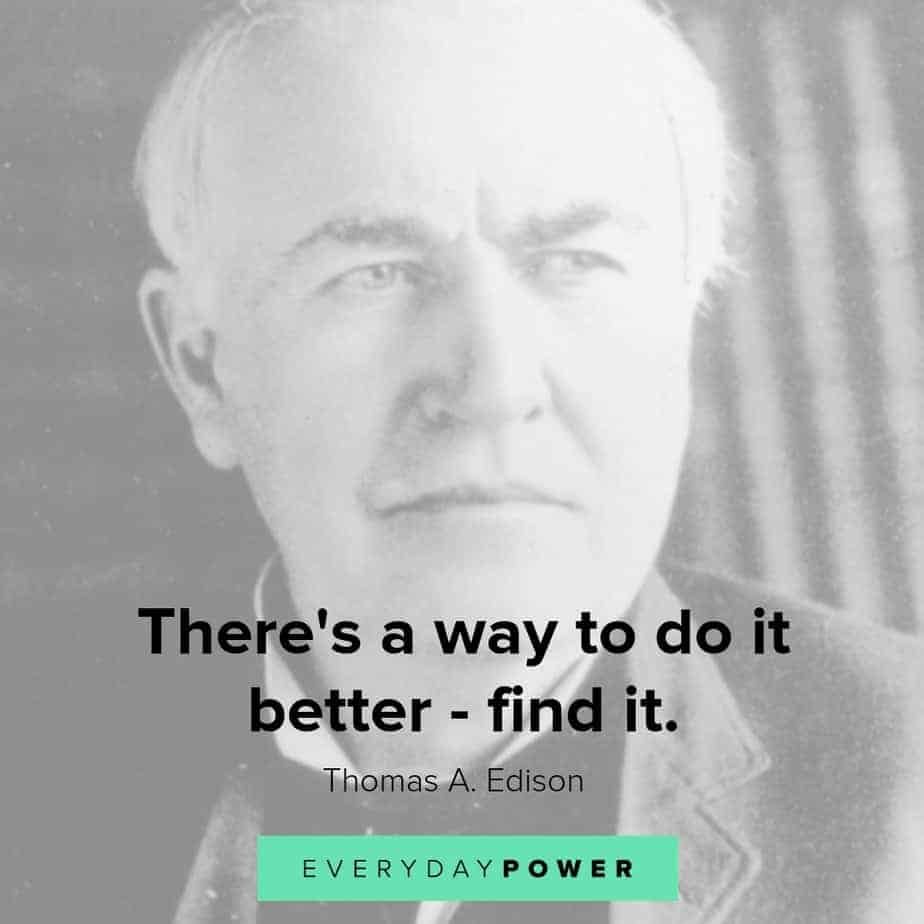 thomas edison quotes on doing it