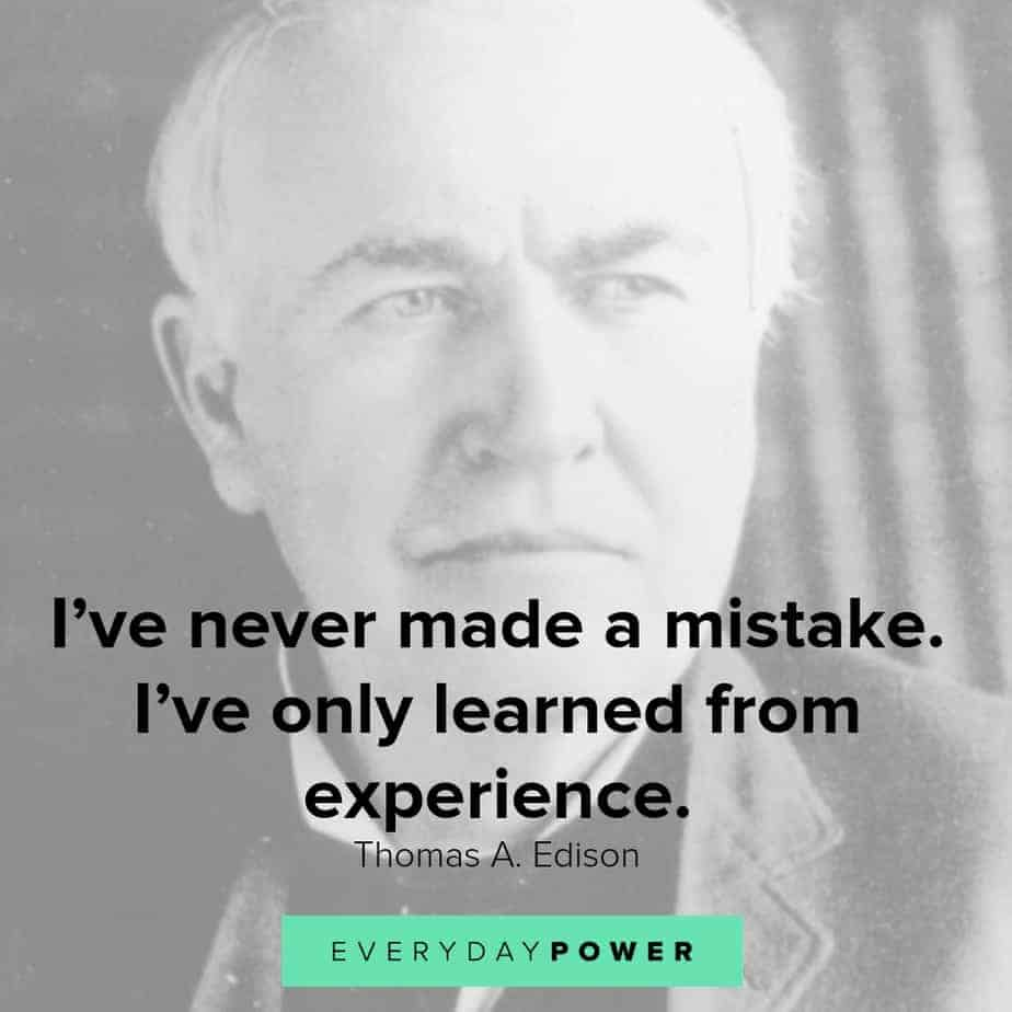 thomas edison quotes about experience