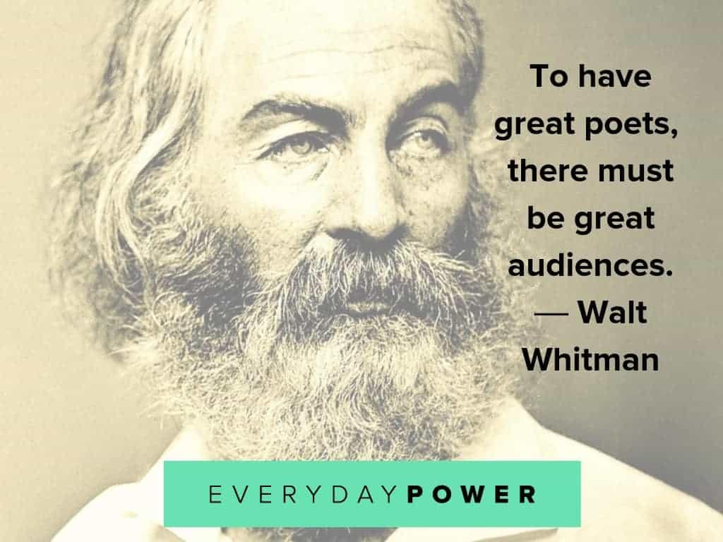 walt whitman quotes on poets