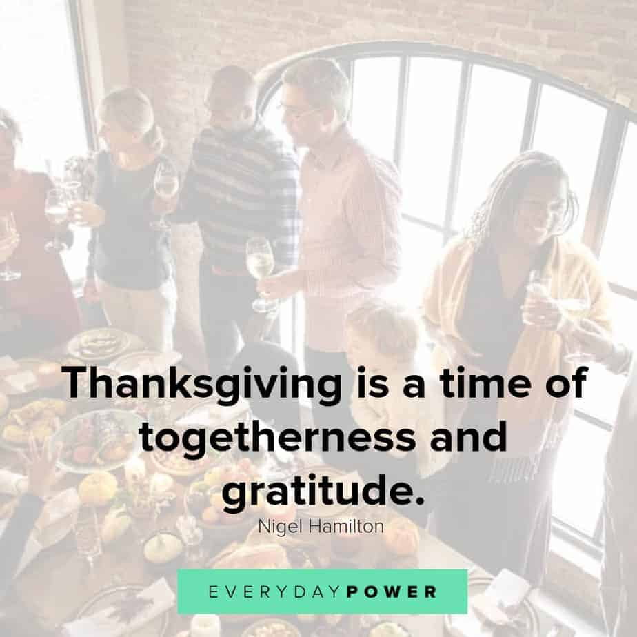 happy thanksgiving quotes about togetherness