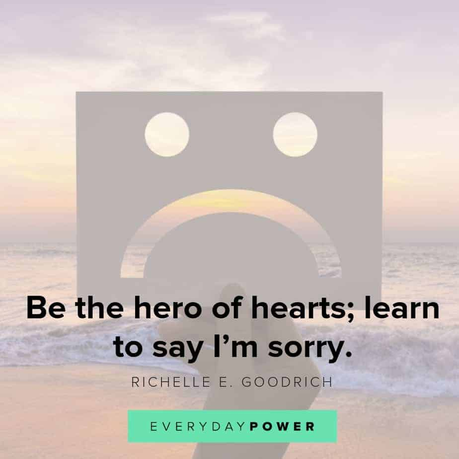 i'm sorry quotes on learning to say it