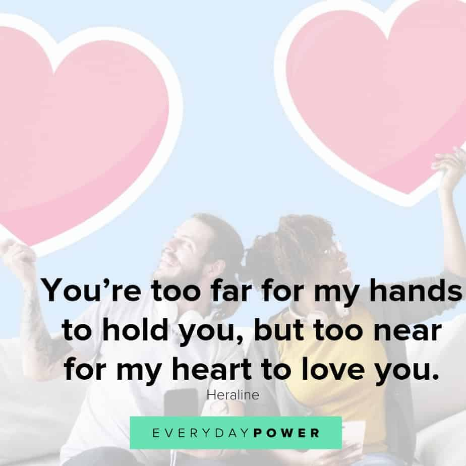 long distance relationship quotes about hearts