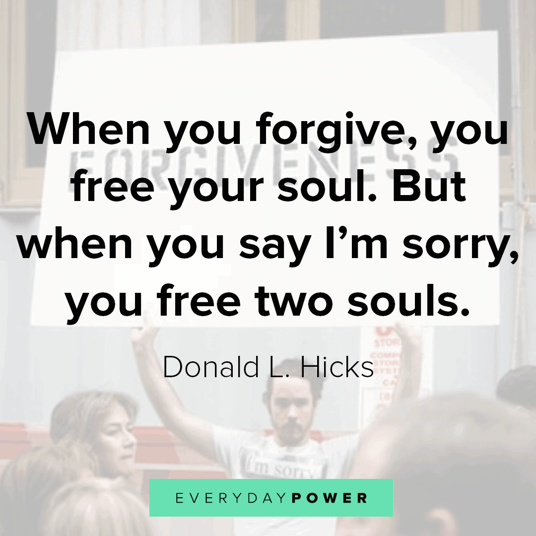 I'm Sorry Quotes to free your soul