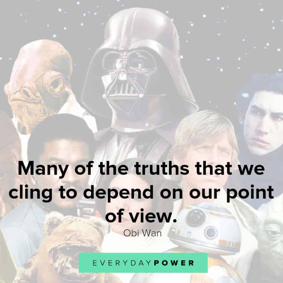 star wars quotes about the truths we cling to