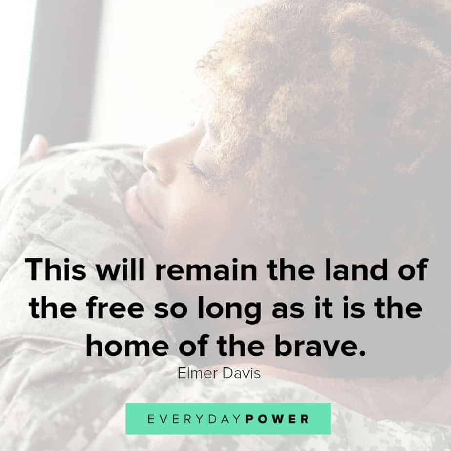 military quotes on being brave
