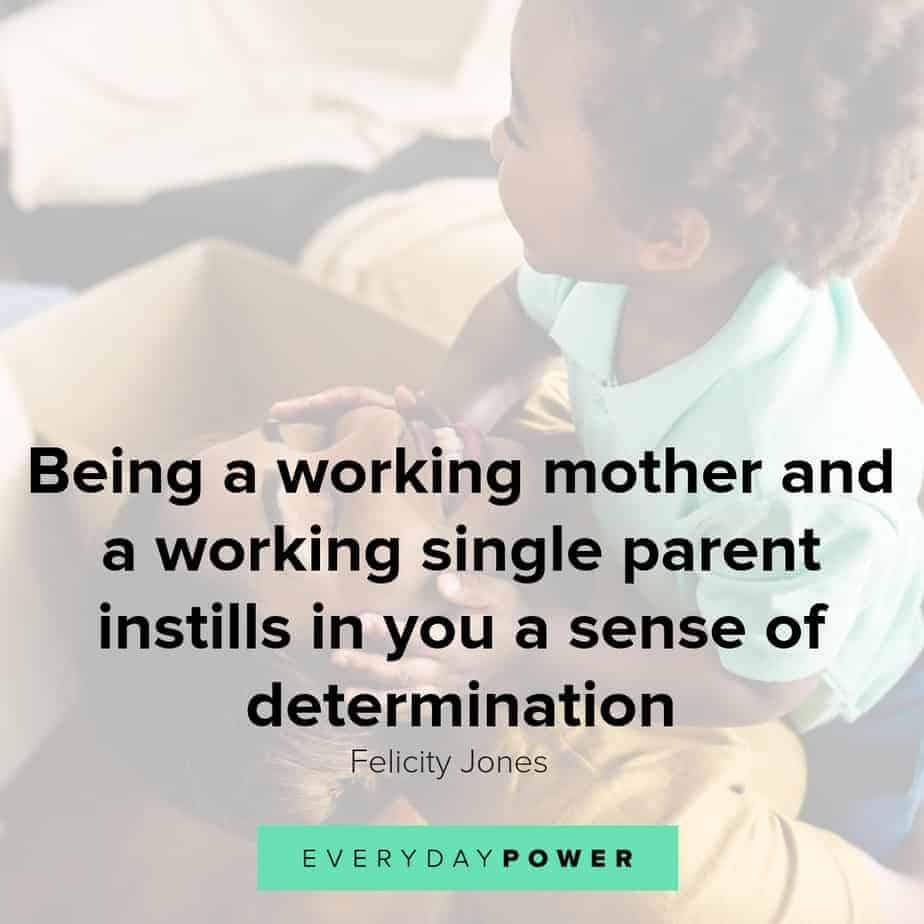 single mom quotes about determination