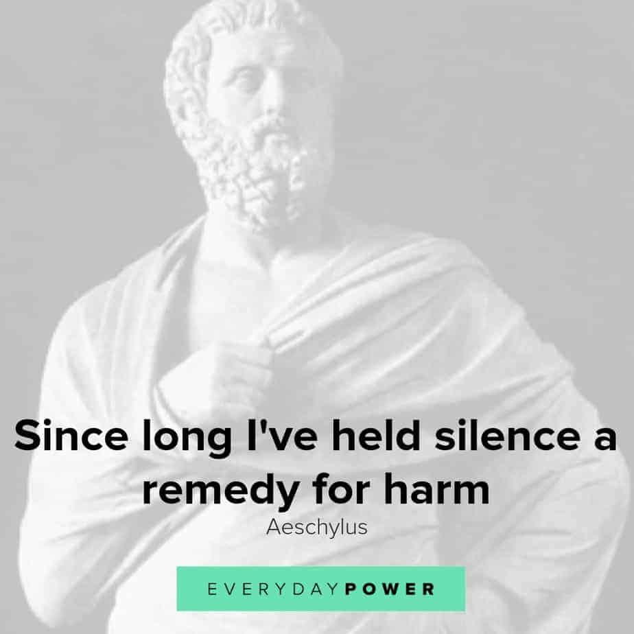 inspirational Aeschylus quotes