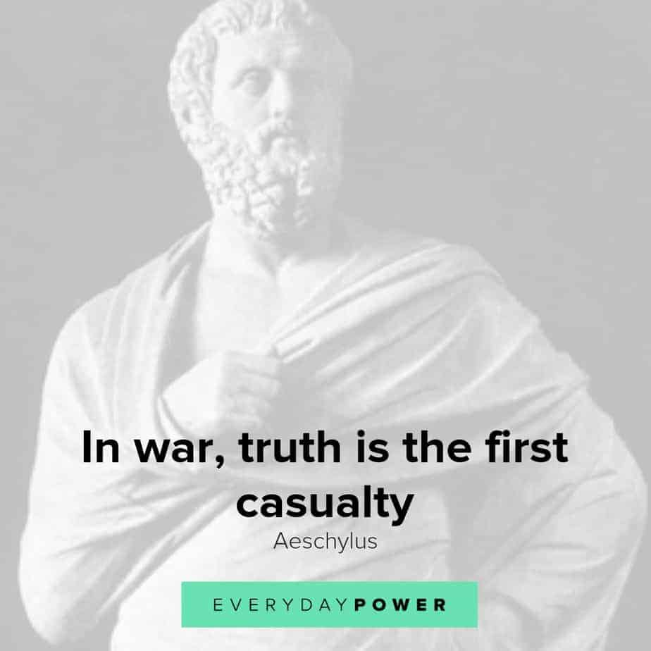 Thought-provoking Aeschylus quotes