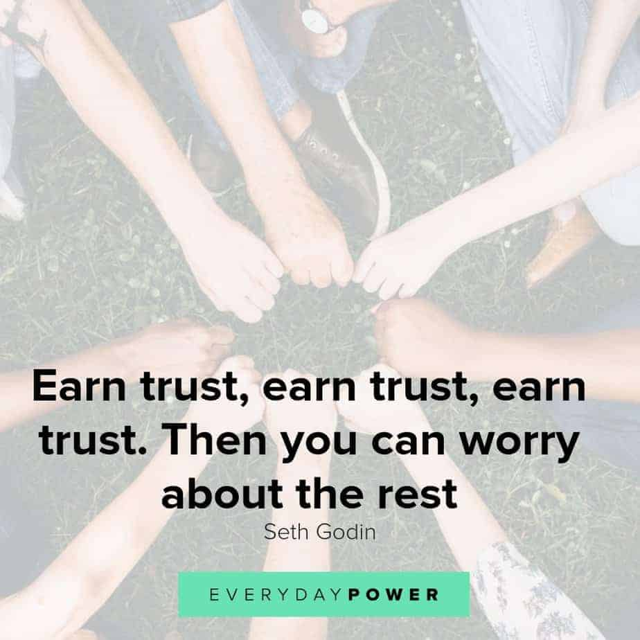 Trust quotes honoring confidence, belief and faith