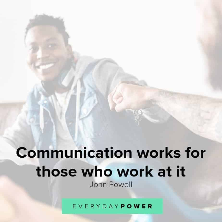 In communication relationships about quotes Communication in