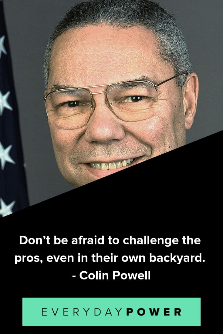 Colin Powell quotes praising preparation and hard work