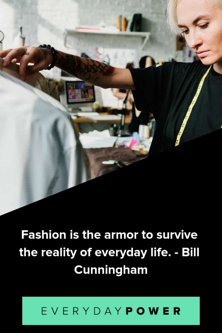 Fashion quotes celebrating design and your favorite designers