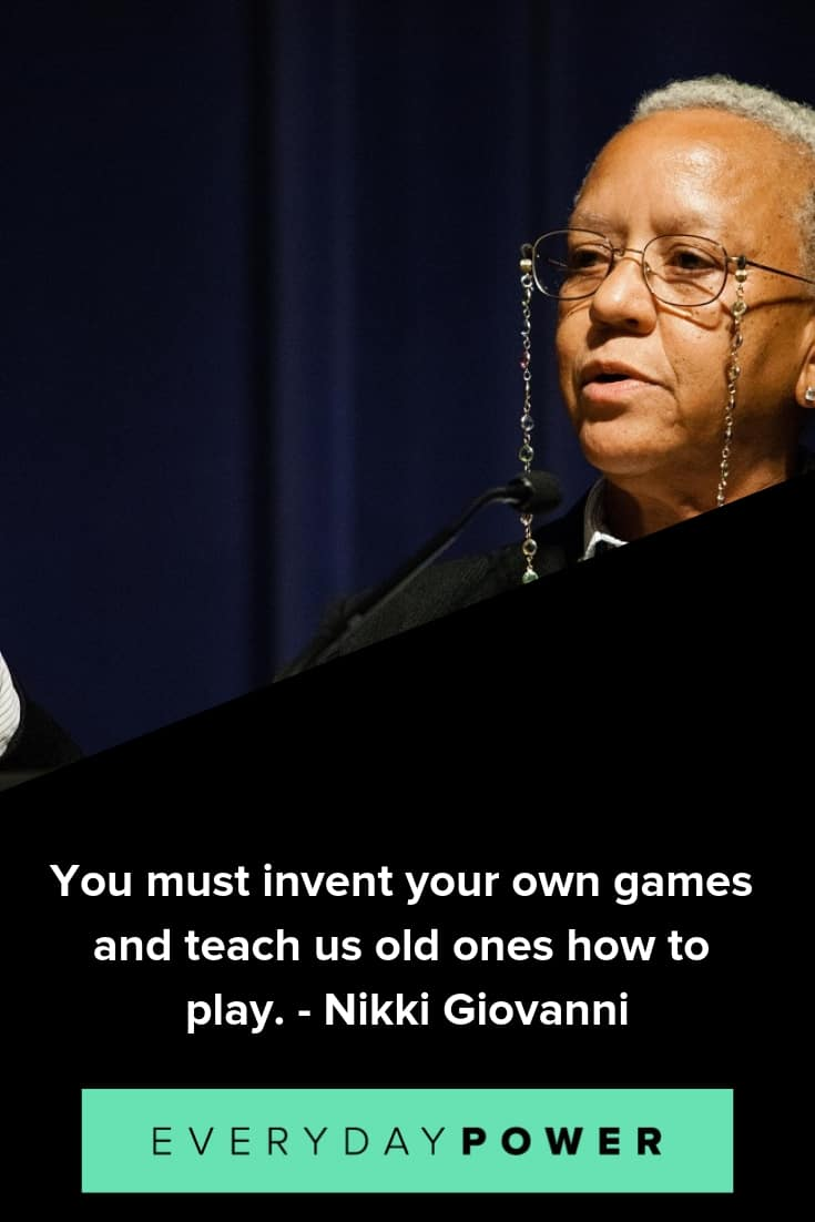 Nikki Giovanni quotes to inspire and teach