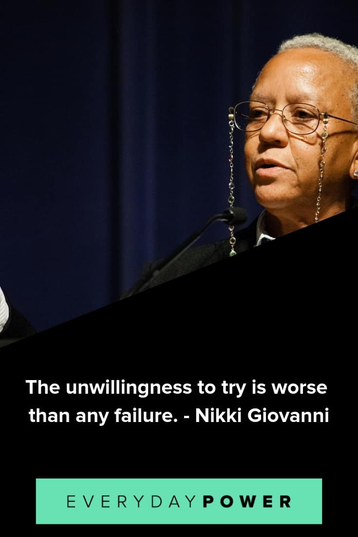 Nikki Giovanni quotes on life and creativity