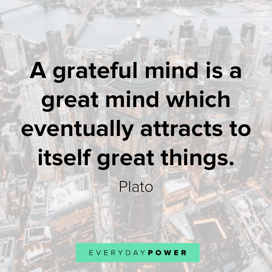 appreciation quotes about a grateful mind