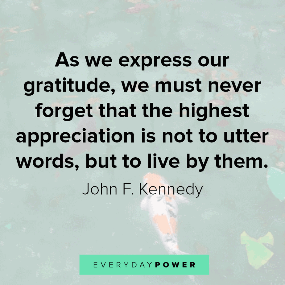 appreciation quotes on expressing gratitude