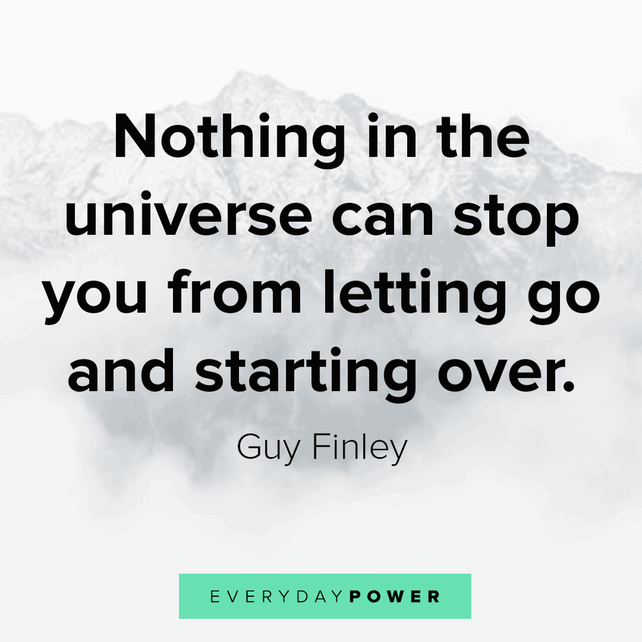 break up quotes about starting over