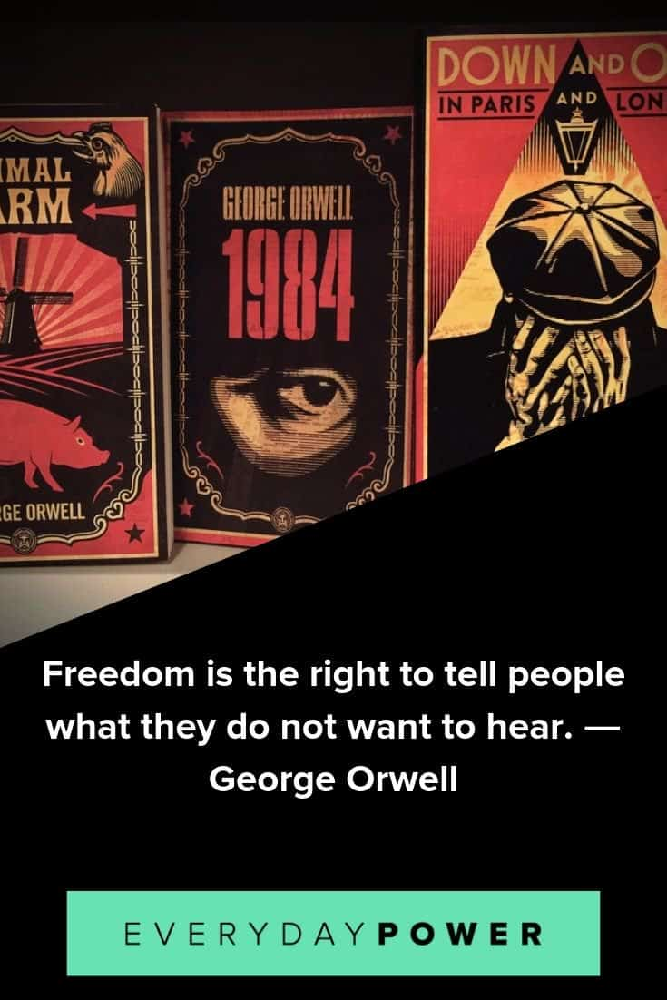 George Orwell quotes on truth, power and government