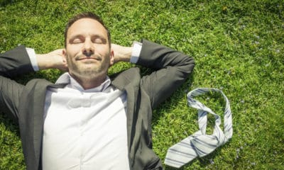 A Man Lying in The Grass