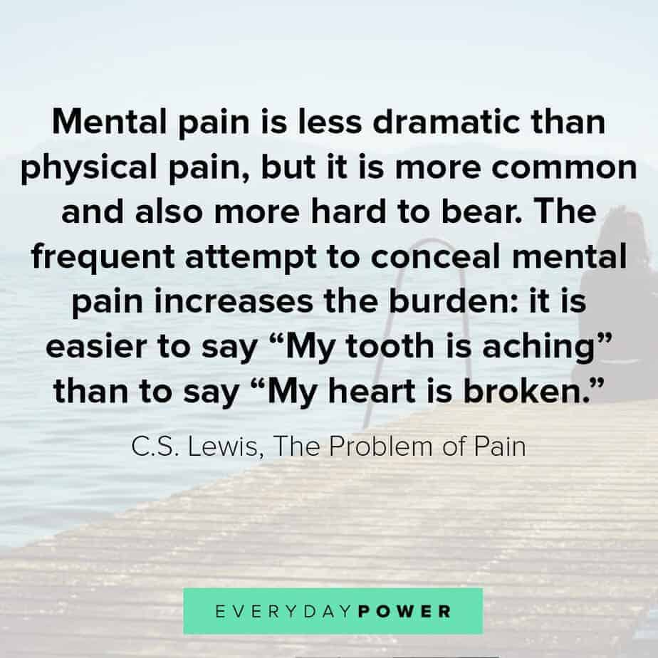 Depression Quotes on pain