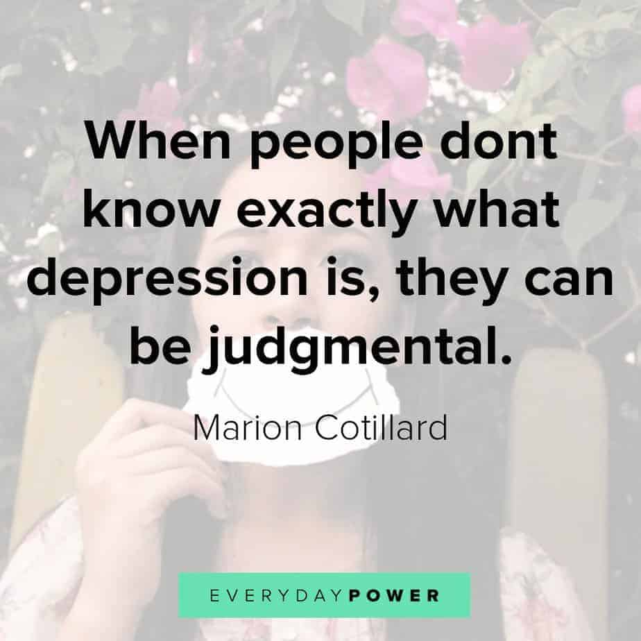 Depression Quotes on judgmental people