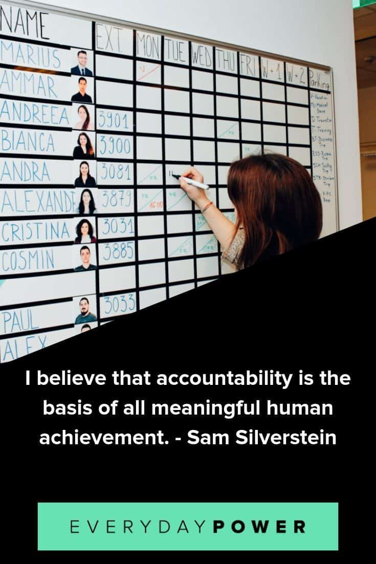 Accountability Quotes To Keep You In Check