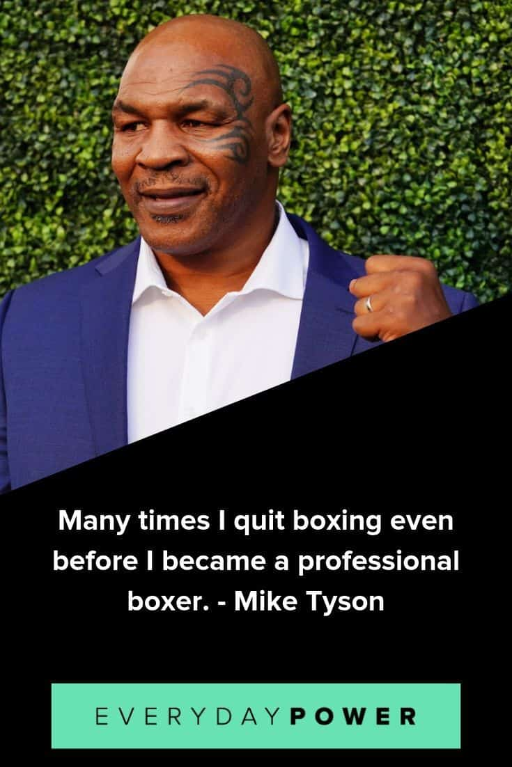 Mike Tyson quotes on determination and willpower