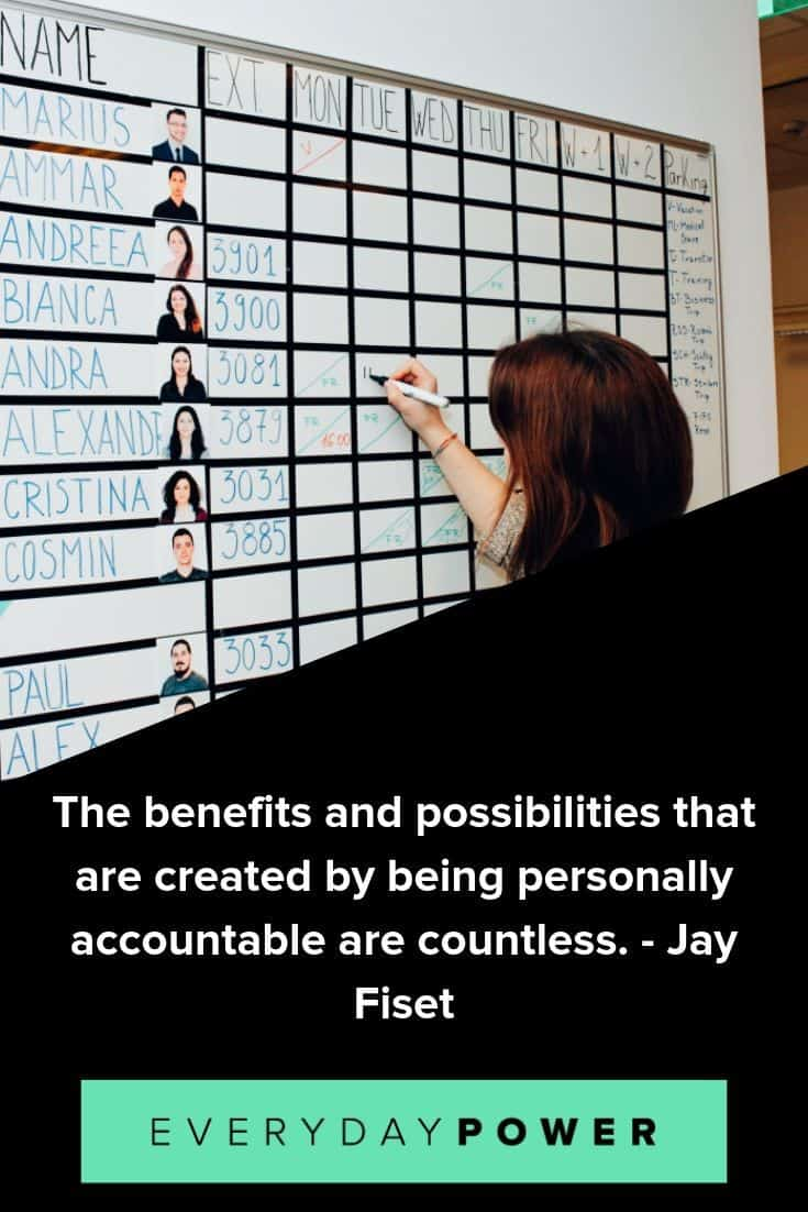 Accountability quotes to help you reach your goals and dreams
