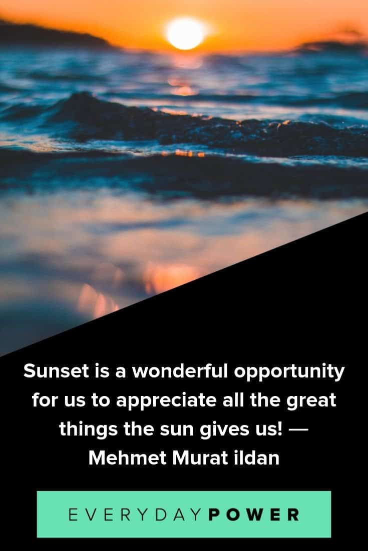 Sunset quotes to inspire meaningful change