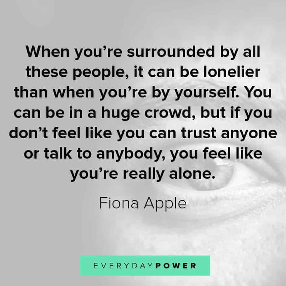 Depression Quotes on feeling alone