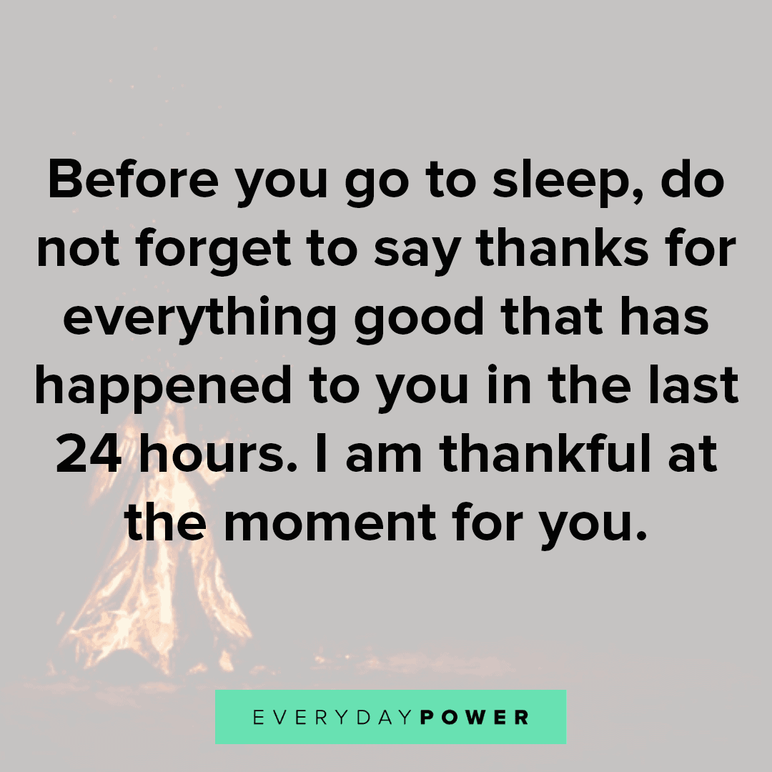Goodnight Quotes on being thankful