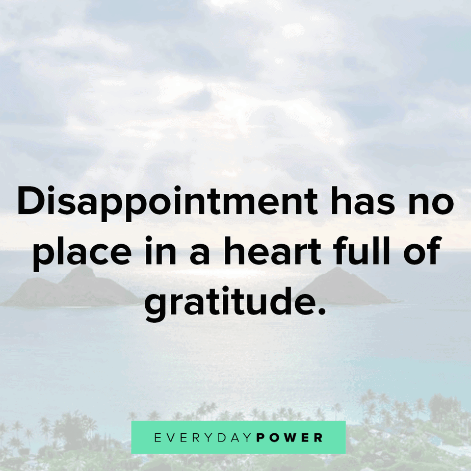 disappointment quotes about gratitude