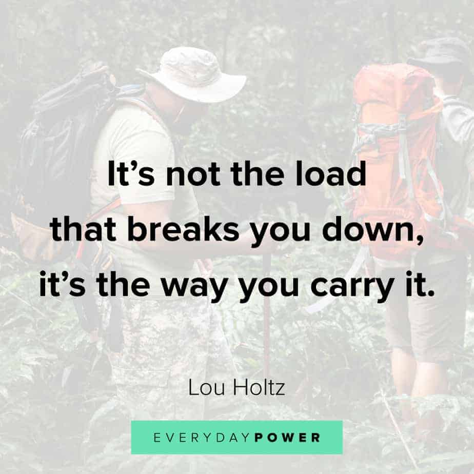 Addiction Quotes on carrying your load