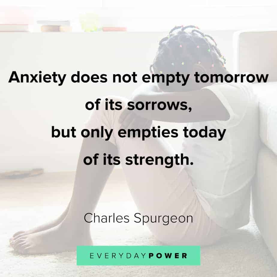 Anxiety Quotes about sorrow